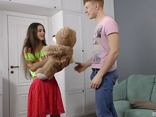 Small tits go steady with Mara Gri drops on her knees to be fucked