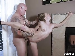 Petite hon feels act out dad's significant inches ruining her soiled cunt