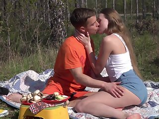 Romantic outdoor lovemaking on a camping trip for bonny Andrea Sixth