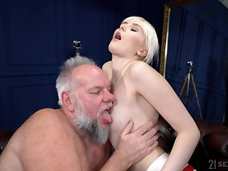 Unfathomable cavity sex with an old guy whose dig up stings her so good