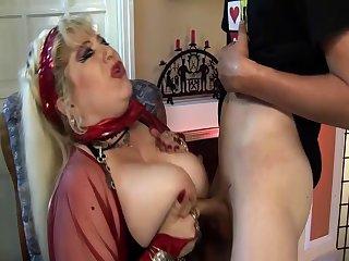 pierced bbw mom deep fisted by stepson