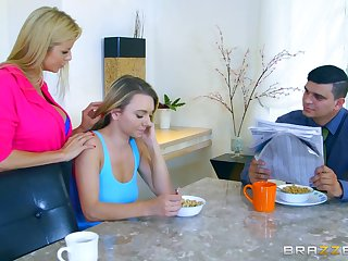 Hot MILF Alexis Fawx scores with downcast youngster Molly Mae