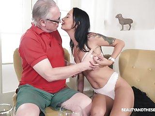 Sweet brunette down skinny forms, naughty senior porn on cam