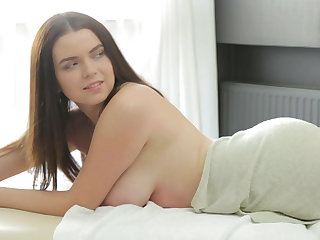 Brunette Shelia Gets a Big Gravamen Of Cum