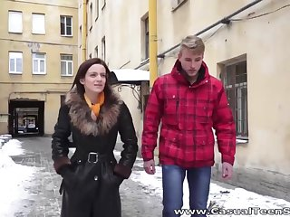 Amateurish Russian student is fucked and jizzed on the roguish date