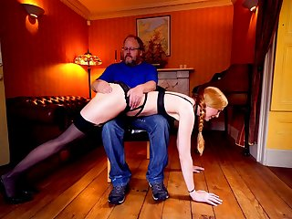 Double penetrated redhead in old young dear one photograph