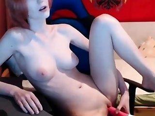 Hot Teen Chloe Toy Masturbates adjacent to Orgasm with her Wand