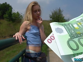 Innocent Alecia Fox receives an indecent proposal newcomer disabuse of Public Agent