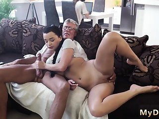 Blonde fucks age-old guy and Lilliputian What would you prefer -