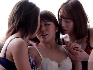AYA KISAKI & SHINO AOI & AYUMI KUROKI - THREESOME INTENSE KISSING AND SEX